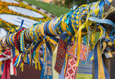 Linten met de symbolen van de Oekraïne Royalty-vrije Stock Foto