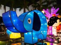 Linterna animal de la historieta exhibida en Hong Kong Fotografía de archivo libre de regalías