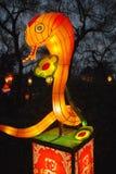 Linterna animal del zodiaco de la serpiente china Fotografía de archivo libre de regalías