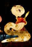 Linterna animal del zodiaco de la serpiente china Imagen de archivo