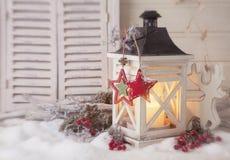 Linterna ardiente Fotografía de archivo libre de regalías