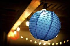 Linterna azul Imágenes de archivo libres de regalías