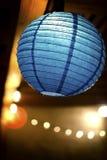 Linterna azul Fotos de archivo
