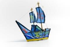 Linterna azul de la nave Fotografía de archivo libre de regalías