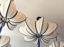 Linterna blanca con el tassle Imagen de archivo