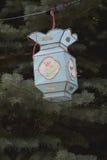 Linterna china azul Foto de archivo