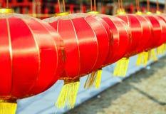 Linterna china con tradicional Imagen de archivo libre de regalías