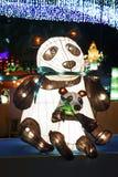 Linterna china de la panda Foto de archivo