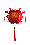 Linterna china de papel roja Fotografía de archivo