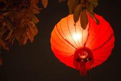 Linterna china del Año Nuevo en ciudad de China Foto de archivo libre de regalías
