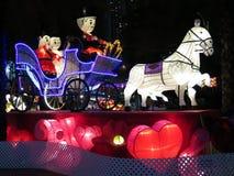 Linterna china del carro de la boda - mediados de Autumn Fest Fotos de archivo