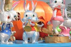 Linterna china del conejo Imagenes de archivo