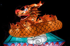 Linterna china del dragón Fotografía de archivo libre de regalías