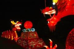 Linterna china del dragón Fotos de archivo