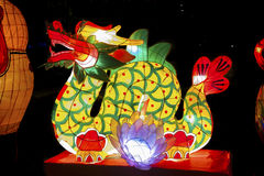 Linterna china del dragón Imágenes de archivo libres de regalías