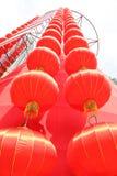Linterna china del rojo del Año Nuevo Imagen de archivo