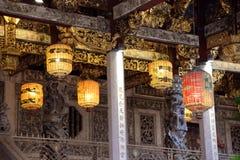 Linterna china del templo Fotografía de archivo