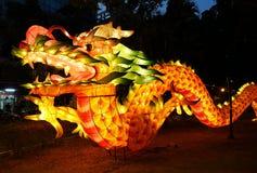 Linterna china en la forma de un dragón Imagen de archivo libre de regalías