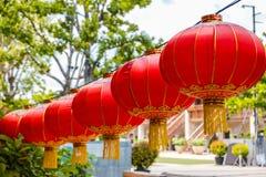 Linterna china roja para la celebración china del Año Nuevo imagenes de archivo