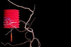 Linterna china a solas con el espacio de la copia fotos de archivo libres de regalías