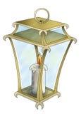 Linterna con la vela Fotos de archivo libres de regalías