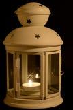 Linterna con la vela Foto de archivo libre de regalías