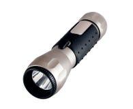 Linterna de aluminio aislada en blanco Fotos de archivo
