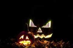 Linterna de Jack O de la calabaza de Halloween Fotos de archivo libres de regalías