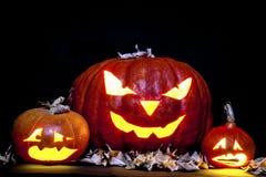 Linterna de Jack O de la calabaza de Halloween Fotos de archivo