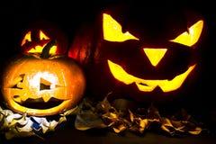 Linterna de Jack O de la calabaza de Halloween Imagenes de archivo