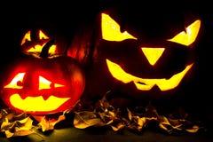 Linterna de Jack O de la calabaza de Halloween Foto de archivo libre de regalías