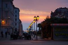 Linterna de la calle, Trieste Foto de archivo libre de regalías