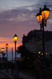 Linterna de la calle, Trieste Imagen de archivo libre de regalías
