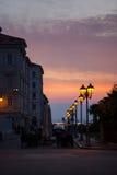 Linterna de la calle, Trieste Fotos de archivo