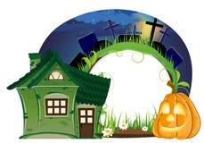 Linterna de la casa y de Jack o Imagen de archivo libre de regalías