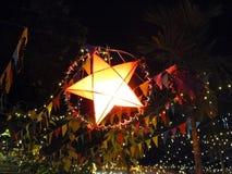 Linterna de la estrella que brilla Foto de archivo libre de regalías