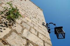 Linterna de la fortaleza de Hvar imagenes de archivo