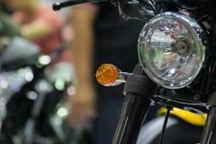 Linterna de la motocicleta del enfoque en evento de la demostración de coche Imágenes de archivo libres de regalías