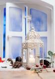 Linterna de la Navidad bastante blanca Fotos de archivo libres de regalías