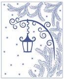 Linterna de la silueta Imagen de archivo libre de regalías