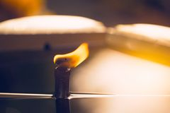 Linterna de la vela del fuego del aceite de Buda de la paz Foto de archivo libre de regalías