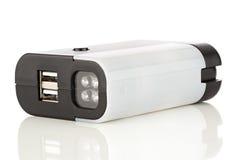 Linterna de LED con los accesos de USB Fotos de archivo libres de regalías