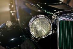 Linterna de lujo antigua del frente del coche Fotografía de archivo