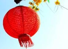 Linterna de papel china roja fotografía de archivo