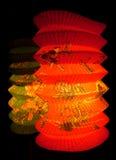 Linterna de papel dos Foto de archivo libre de regalías