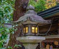 Linterna de piedra japonesa en el jardín Fotografía de archivo