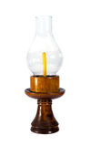 Linterna de tormenta de madera Imagen de archivo
