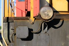 Linterna de una locomotora vieja Imagen de archivo libre de regalías
