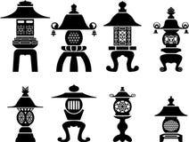 Linterna decorativa asiática para los iconos interiores libre illustration