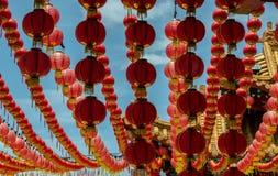 Linterna del Año Nuevo del chino tradicional Fotografía de archivo